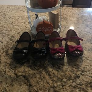2 Pairs Of Toddler Mary Jane Dress Shoes